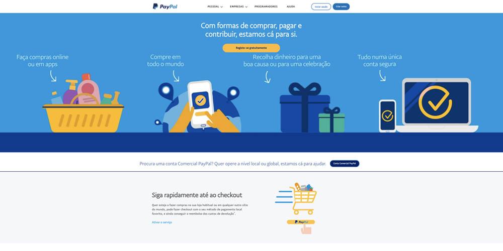 screenshot paypal interface